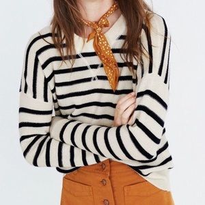 Madewell Striped Cashmere Sweater
